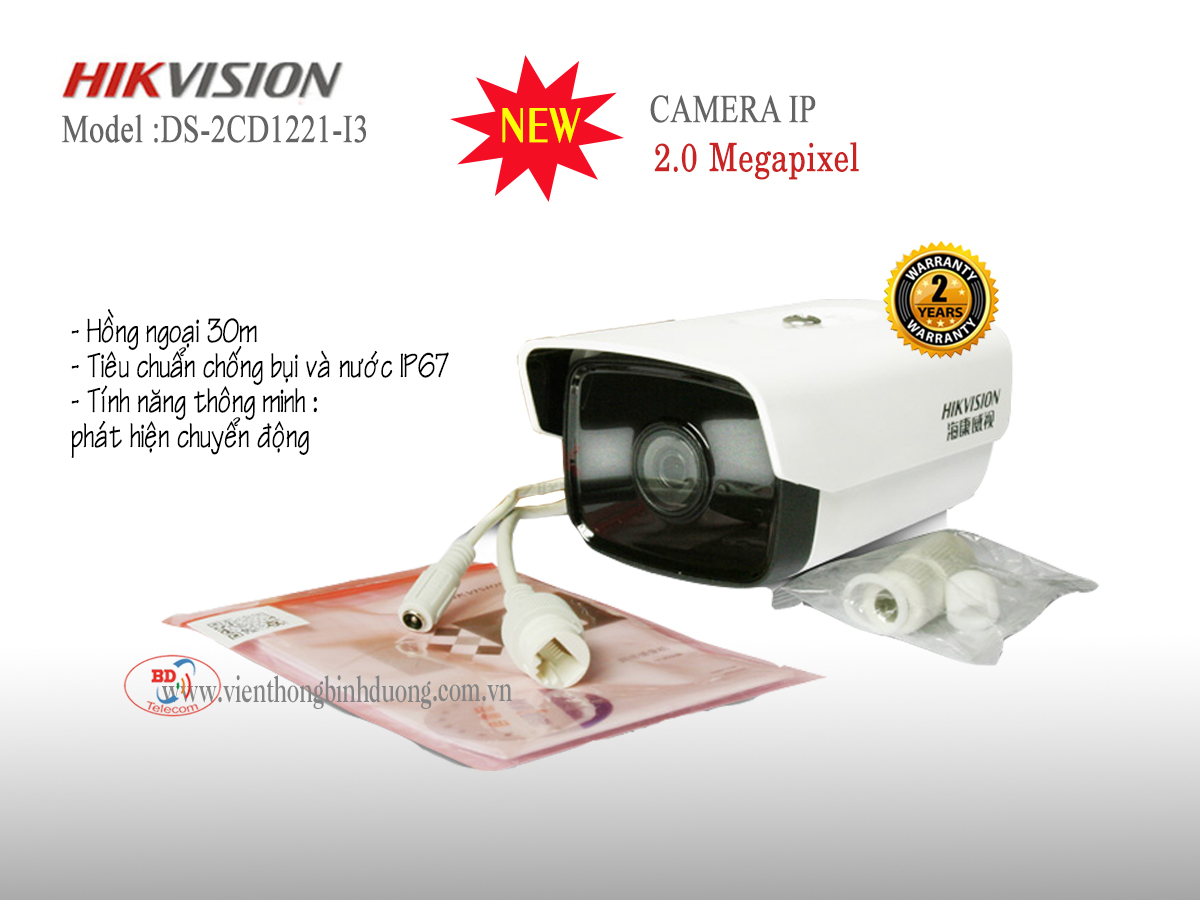 Camera IP Hikvision 2.0 Megapixel DS-2CD1221-I3