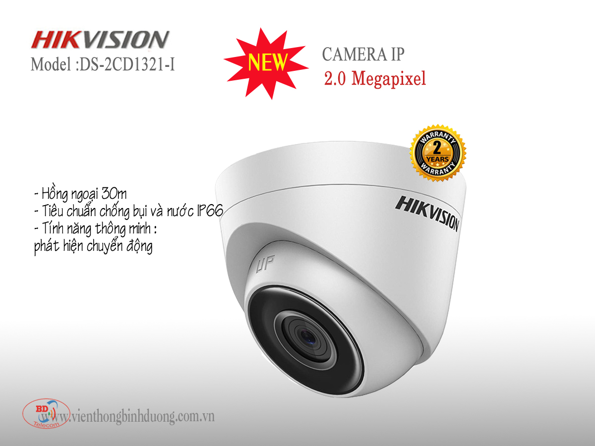 Camera IP Hikvision 2.0 Megapixel DS-2CD1321-I